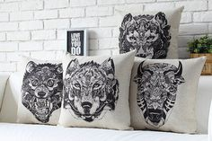 Hey, I found this really awesome Etsy listing at https://www.etsy.com/listing/195906149/linen-pillow-animal-pillow-cover-cushion