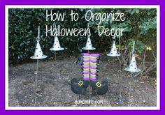 Because it needs to look as good while its on display as it is once you pack it away ~ How to Organize Halloween Decor | gomominc.com