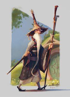 The Hobbit Game Character - Gandalf, Vanessa Palmer on ArtStation at https://www.artstation.com/artwork/EykEv