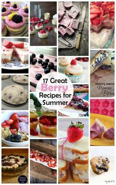 Great collection of berry recipes perfect for the Summer.