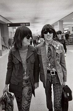 Grace Slick and Spencer Dryden from The Jefferson Airplane, 1967. Photoby Jim Marshall.