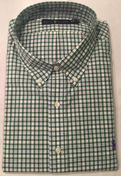 0f9c764ba9c Polo Ralph Lauren White Green Blue Check Plaid Oxford Shirt XXL