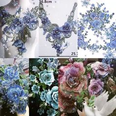 Patch Aplique, Patched Jeans, In Cosmetics, Crafts To Sell, Cosmetic Bag, Applique, Floral Wreath, Patches, Neckline