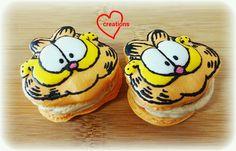 Loving Creations for You: Garfield Earl Grey Salted Caramel Macarons