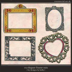 CU Elegant Frames :: COMMERCIAL USE :: Memory Scraps