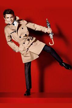 Romeo Beckham Burberry Campaign - spring summer 2013 - Edie Campbell Cara Delevingne (Vogue.com UK)