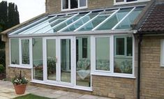 Pergola With Glass Roof Miniature Greenhouse, Best Greenhouse, Greenhouse Plans, Curved Pergola, Pergola Kits, Pergola Ideas, Lean To Conservatory, Conservatory Extension, Backyards