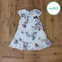 Vestido Flor Azul (Código 3606) R$ 89,90