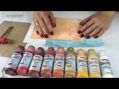 Fresco Finish chalk acrylic brayered backgrounds - Video #1 using colors in the same family. 12.14.14