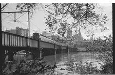 Sandridge rail bridge, Melbourne, 1950s