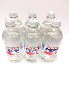 Crystal Pepsi 6 Pack 16 FL OZ Bottles 2015 Pepsi Promotion Win New Unopened RARE #PEPSI