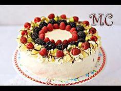 """Tort """"Owocowy Raj"""" lekki, śmietanowy z dużą ilością owoców – Mała Cukierenka - YouTube Raj, Birthday Cake, Cakes, Youtube, Scan Bran Cake, Birthday Cakes, Kuchen, Pastries, Birthday Cookies"""
