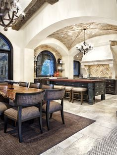 Ceiling  Mediterranean Kitchen Design, Pictures, Remodel, Decor and Ideas