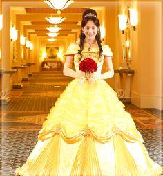 オリジナルドレス Belle, beauty and the beast wedding dress by Tokyo disneyland