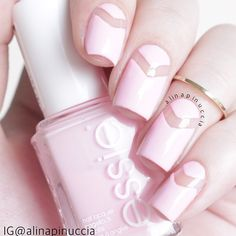 Lovely negative space nails