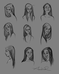 Miri Expressions by ancalinar  Miri doing stuff with her face. Love love love drawin' her, need to do more of it.