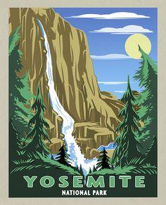 National Park Posters, National Parks, Art Zine, Scenic Photography, Night Photography, Superhero Poster, Nature Posters, Postcard Art, Art Deco Posters