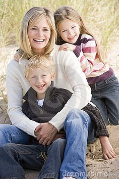 Another cute mother with children pose