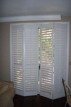wood shutters for sliding patio door