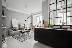 unificar espacio comunicando ambientes y empleando el color gris   Decorar tu casa es facilisimo.com