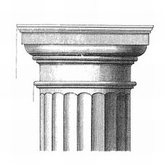 The Five Column Orders Greek Doric Ionic and Corinthian Roman