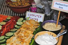 Robot Party Ideas! Computer Chips & Goo