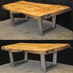 Spalted maple coffee table ready to roll to Florida.  I've got another almost identical slab that will look just like this one. Very cool spalted maple.  We finished a dining table with a steel base today too. Photos of that tomorrow. #dorsetcustomfurniture #guildofvermontfurnituremakers #vtfurnituremakers #woodworking #customcoffeetable #liveedgetable #802 #customfurniture #woodandsteel