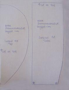 Surgical Scrub Hat Pattern Printable