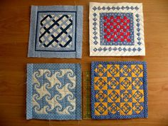 Amazing 6 inch square quilts done by granny_59 of Quilting Board
