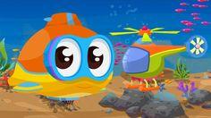 Cartoni animati per bambini: Oscar il sottomarino e l'elicottero
