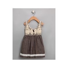 Gray Crochet Dress - Toddler & Girls - Hazel | Daily deals for moms, babies and kids found on Polyvore