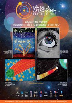 """Ganadores del concurso de pintura """"Preparando el día de la Astronomía en Chile 2015"""" #CHILEmiratucielo ¡Gracias!"""