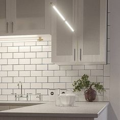 AXIS KITCHEN LIGHTING IDEAS SMALL KITCHEN Kitchen Tops, Kitchen Cabinets, Small Kitchen Lighting, Tile Floor, Bathtub, Lighting Ideas, Aspen, Home Decor, Big