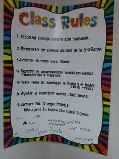 Escuela  Dominical.Reglas