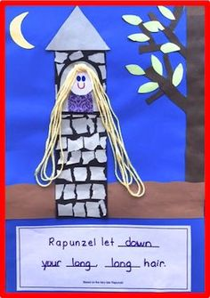 The children love making Rapunzel's long hair with yarn!  A great One-and-Done project for fairy tales.  There are 3 choices for the wording along with writing story papers to glue on the back!  ($)