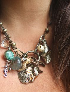 Everything Sea...mermaid, sea horse, shells, starfish..pearls - love it