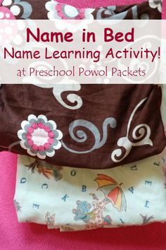 Name in Bed Puzzle & Name Writing Activity   Preschool Powol Packets