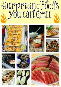 Surprising Foods You Can Grill,  Surprising Foods You Can Grill, grilled watermelon, grilled pineapple, grilled peaches, grilled bananas, grilled corn on the cob, grilled avocados, grilled artichokes, grilled lettuce, grilled pizza, recipes for the grill, recipes for summer