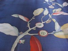 Blue silk scarf Hand painted Multicolor Women gift  by DEsilk, $79.00