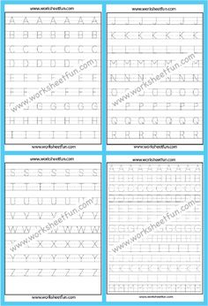 Capital Letters Worksheet, Letter Tracing Worksheets, First Grade Worksheets, Kindergarten Math Worksheets, Tracing Letters, Free Printable Worksheets, Kindergarten Classroom, Alphabet Writing Practice, Math For Kids