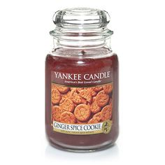 Ginger Spice Cookie : Yankee Candle Company : Large Jar Candles : Every day's a celebration with this lively cookie recipe of snappy ginger and luscious brown sugar. Yankee Candle Scents, Yankee Candles, Scented Candles, Candle Jars, Candle Warmer, Spice Cookies, Just In Case, Spices, Essentials