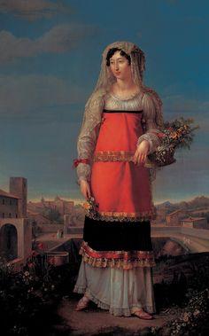 Jean-Baptiste Wicar - Charlotte Bonaparte in peasant dress of Canino 1815