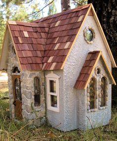 Fern Creek Cottage Handmade Wooden Dollhouse Ooak Paperclay Custom