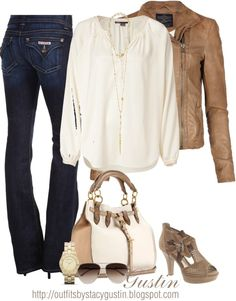 """""""tan flower shoes"""" by stacy-gustin on Polyvore"""
