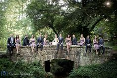 Bridge bridal party photo!  University of the South at Sewanee.
