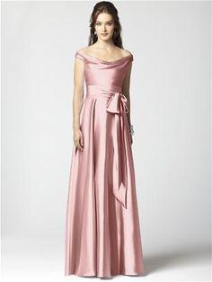 Off The shoulder dress in rose from Dessy.