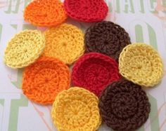Crocheted Fall Circles - Set of 10 on Etsy