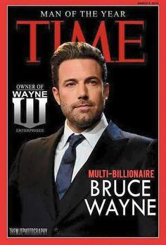 Bruce Wayne, Man of the Year. (Batman v. Superman)   #batmanvsuperman   #kurttasche  #successwithkurt