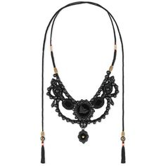 Gucci Velvet Necklace With Glass Pearls (£1,020) ❤ liked on Polyvore featuring jewelry, necklaces, fashion jewellery, glass, jewellery & watches, vintage glass necklace, pearl necklace, white pearl necklace, tassel necklace and vintage tassel necklace