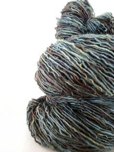 shire - hand dyed yarn, superwash merino wool sock yarn, single-ply, kettle dyed woodland green olive yarn